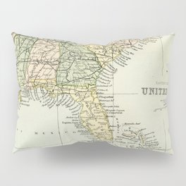Vintage Map of the South Of The United States Of America Pillow Sham