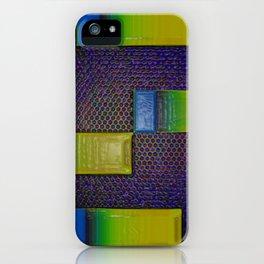 yellow rectangles iPhone Case