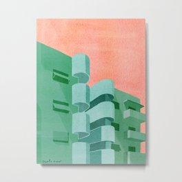 Green Bauhaus Metal Print