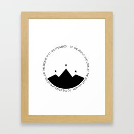 to the people who look at the stars and wish Framed Art Print