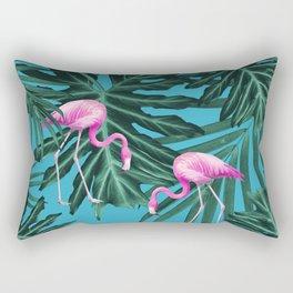 Summer Flamingo Jungle Vibes #2 #tropical #decor #art #society6 Rectangular Pillow