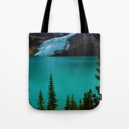 Berg glacier from Berg Lake, BC Tote Bag
