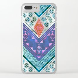Jirra Boho Chevron {1A} Clear iPhone Case