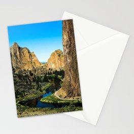 Rocks + River // Hiking Mountains Colorado Scenic View Landscape Photography Forest Backpacking Vibe Stationery Cards