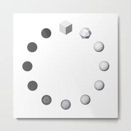 Catmull-Clock Subdivision Metal Print