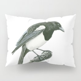 Magpie ink painting Pillow Sham