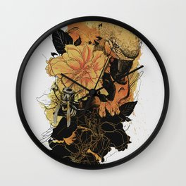 Pollination Fire Wall Clock