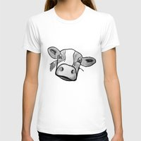 cow T-shirts featuring Cow by mandylauren