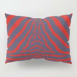 Zebra Pelt in Coral and Purple Pillow Sham