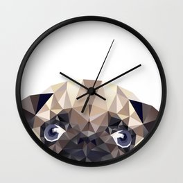 Pug Diamonds Wall Clock
