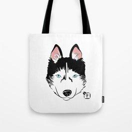 Husky Face Tote Bag