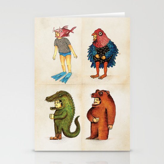 Costumes - Animalados Stationery Cards