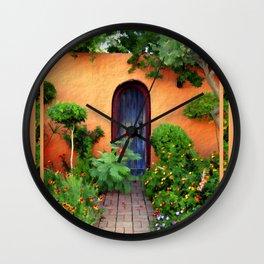 Garden Delights, Mesilla, NM Wall Clock