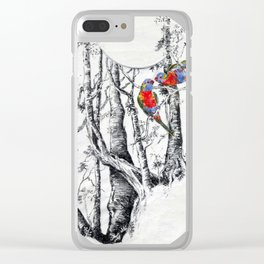 Rainbow Forest Clear iPhone Case