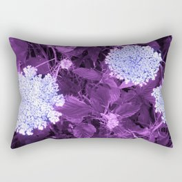 Queen Anne's Lace with Purple Leaves Rectangular Pillow