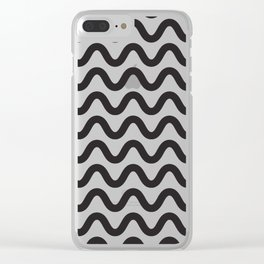 Coral Ripple Clear iPhone Case