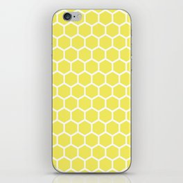 Summery Happy Yellow Honeycomb Pattern - MIX & MATCH iPhone Skin