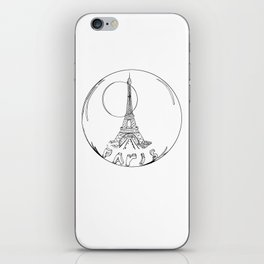 paris in a glass ball without a shadow iPhone Skin