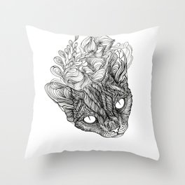 spirit of devonrex  Throw Pillow