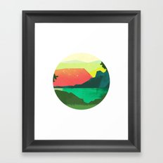 Circlescape Framed Art Print