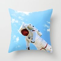 spaceman Throw Pillows featuring Spaceman by Richwill Company