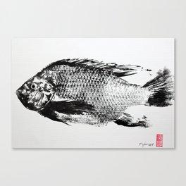gyotaku - koi fish Canvas Print