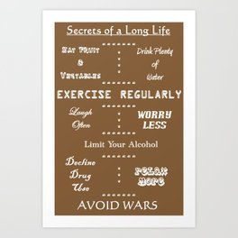 Secrets to a Long Life Art Print