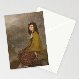 Joan Brull Vinyoles - Portrait of a Girl Stationery Cards