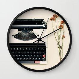 The Nostalgic Typewriter (Retro and Vintage Still Life Photography) Wall Clock