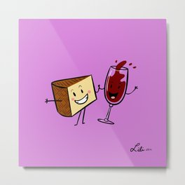 Manchego & Red Wine Metal Print