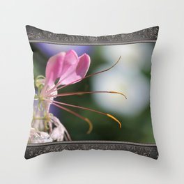 Cleome named Sparkler Pink Throw Pillow