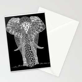 Doodle Elephant Stationery Cards