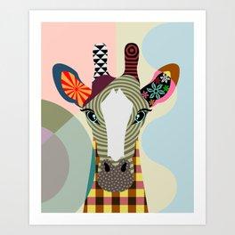 Stand Tall Giraffe Kunstdrucke