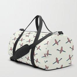 Pink Flamingo watercolor pattern beige Duffle Bag