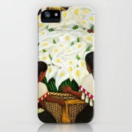 Vendedora de Alcatraces - Calla Lily Flower Sellers by Diego Rivera iPhone Case
