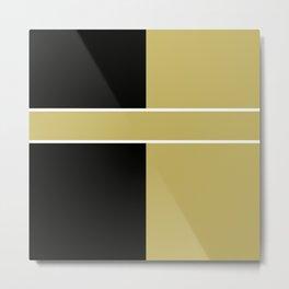 Team Color 6...black,gold Metal Print