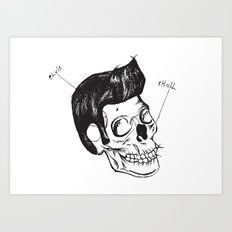 Elvis Skull Art Print