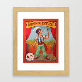 Human Blockhead Framed Art Print