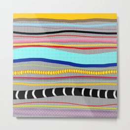 Bold stripes,breezy and beautiful,Striped Contemporary world's cute fashion Metal Print