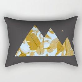 Tropical Leaves & Geometry Rectangular Pillow