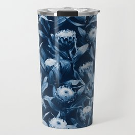 Evening Proteas - Denim Blue Travel Mug