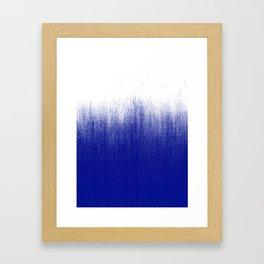 Ink Blue Ombré Framed Art Print