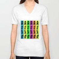 bikini V-neck T-shirts featuring Bikini party by Rceeh