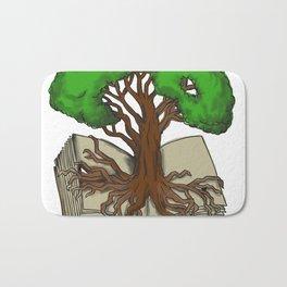 Oak Tree Roots on Book Tattoo Bath Mat
