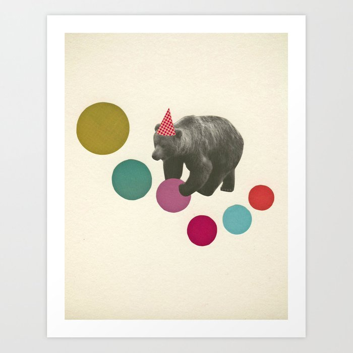 Birthday Bear Art Print