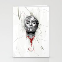 house of cards Stationery Cards featuring House of Cards - Claire Underwood by teokon