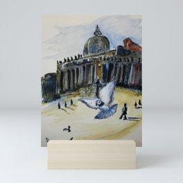 Holy Pigeons Mini Art Print