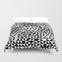 triangles Duvet Covers featuring TRIANGLES by THE USUAL DESIGNERS