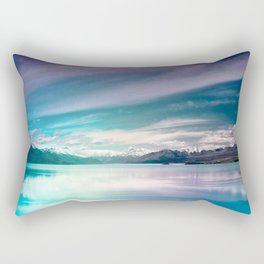 Peaceful Blue Lake Pukaki, New Zealand Rectangular Pillow