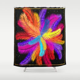 Palm Fronds Explosion Shower Curtain